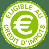 Eligible au crédit d'impôt