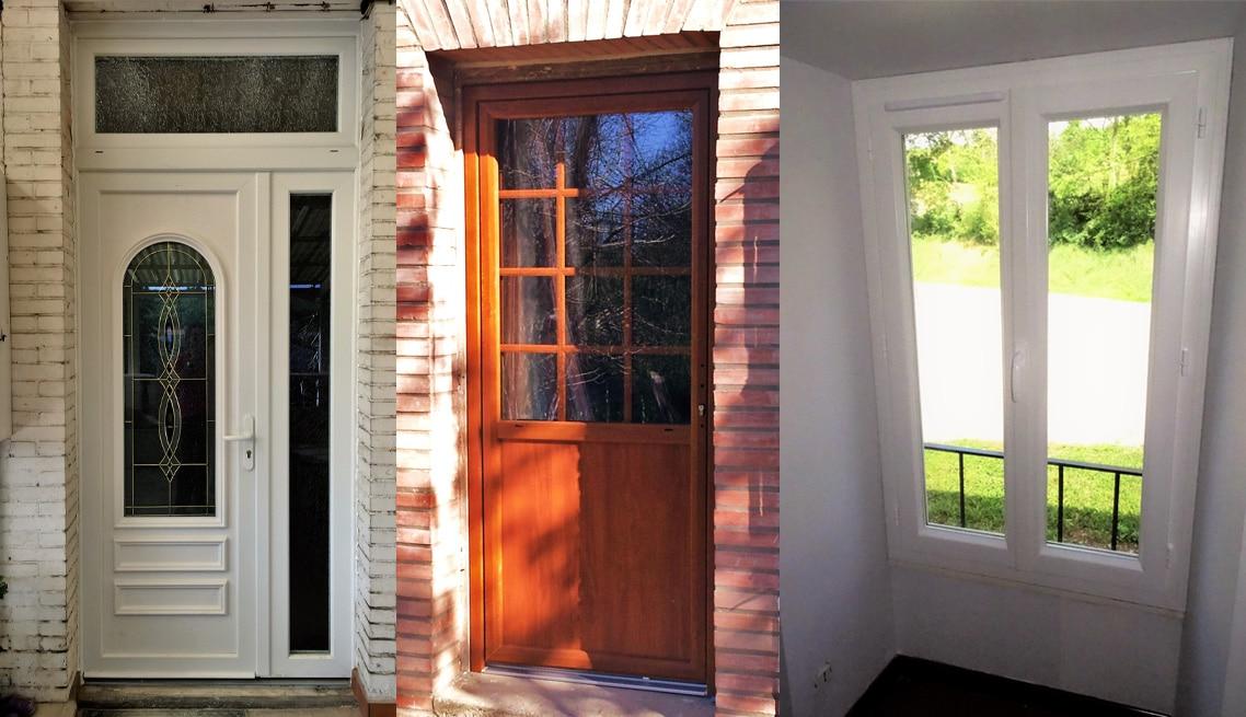Installation portes