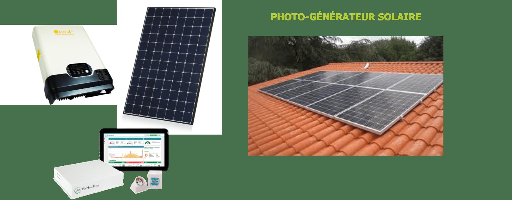 Matériel de gestion de production d'énergie solaire