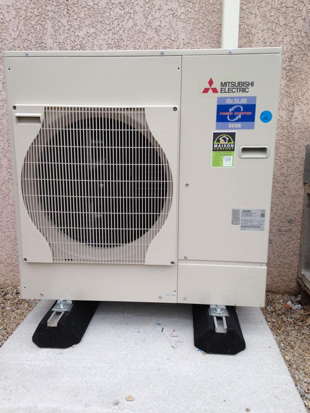 Installation d'une pompe à chaleur Air/Air